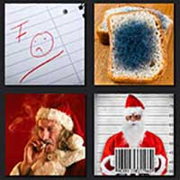 4 pics 1 movie answer cheat Bad Santa