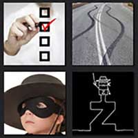 4 pics 1 movie answer cheat The Mark of Zorro