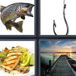 4 pics 1 word answers and cheats level Fish