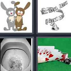 4 pics 1 word answers and cheats level Flush