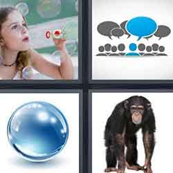 4 pics 1 word answers and cheats level Bubble