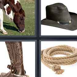4 pics 1 word answers and cheats level Cowboy