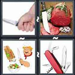 4 Pics 1 Word Answers And Cheats Level Knife