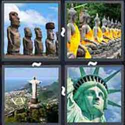 4 pics 1 word 4 letters statue 4 pics 1 word answers level 3031 3045 18893